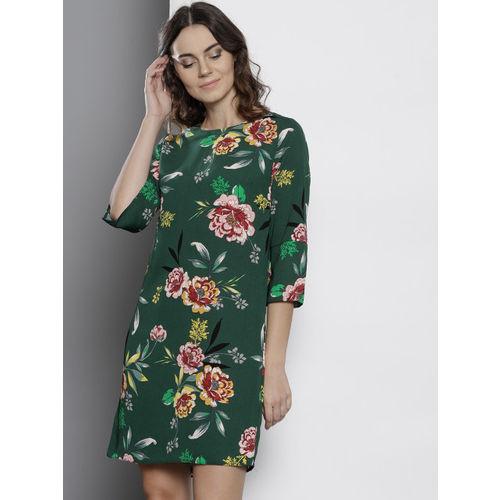 DOROTHY PERKINS Women Green Printed A-Line Dress