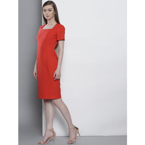 DOROTHY PERKINS Women Red Solid Sheath Dress