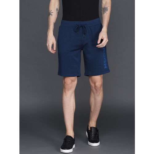 WROGN Men Navy Blue Solid Regular Fit Shorts