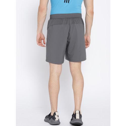 ADIDAS Men Grey Solid D2M Cool Sports Shorts