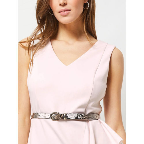 DOROTHY PERKINS Women Pink Solid Wrap Dress