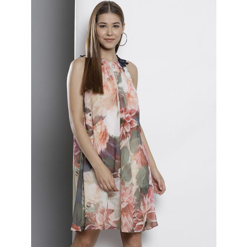DOROTHY PERKINS Women Pink Printed A-Line Dress