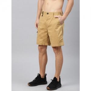 HRX by Hrithik Roshan Khaki Solid Outdoor Regular fit shorts