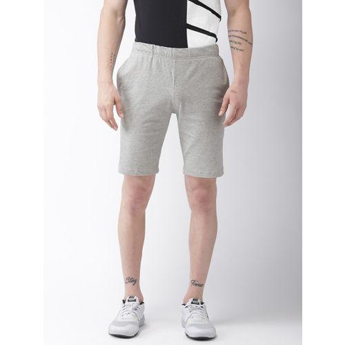 Nike Men Grey Melange CRUSADER Solid Regular Fit Shorts