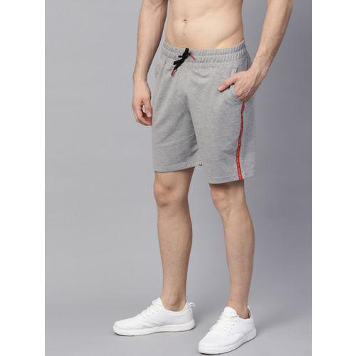 HRX by Hrithik Roshan Men Grey Melange Solid Lifestyle Regular Fit Shorts