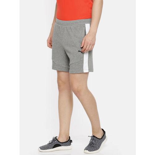 Puma Men Grey Melange Solid SF Sweat Sports Shorts