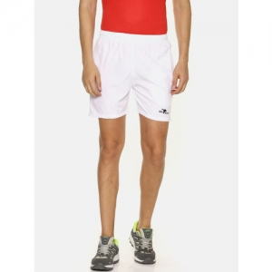 HPS Sports Men White Solid Regular Fit Sports Shorts