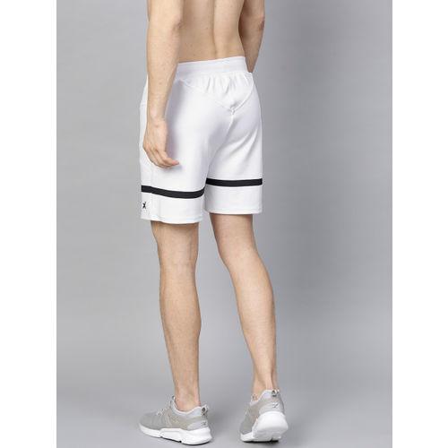 HRX by Hrithik Roshan Men White Solid Regular Fit Sports Shorts