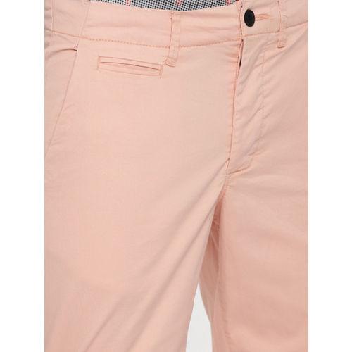 Jack & Jones Men Pink Solid Regular Fit Chino Shorts