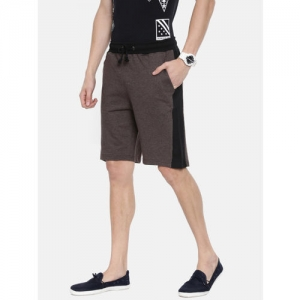 ARISE Men Brown Solid Regular Fit Regular Shorts