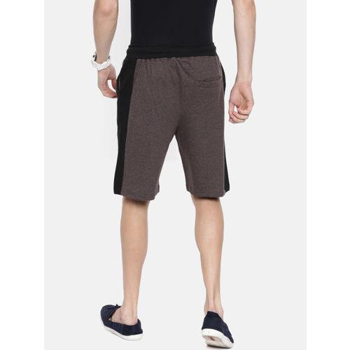 ARISE Men Brown Solid Regular Fit Regular Shorts