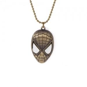 Voylla Golden Alloy Spider Man Pendant With Chain