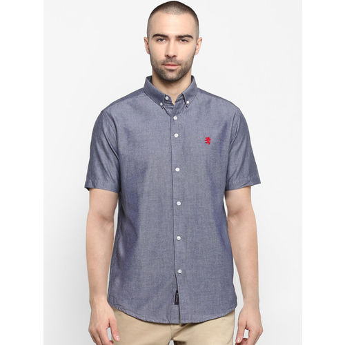 Red Tape Men Navy Blue Regular Fit Solid Casual Shirt