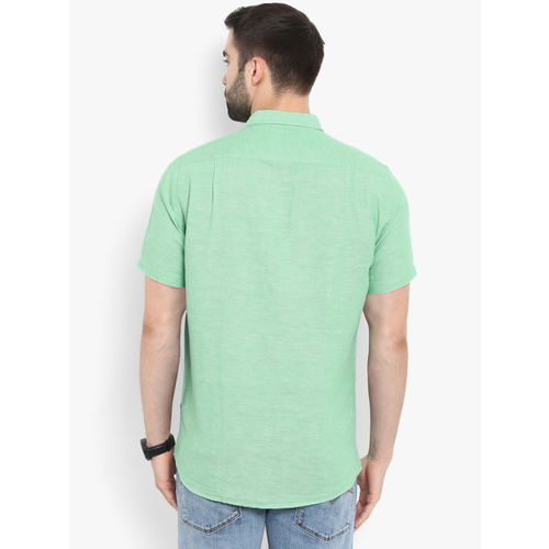Red Tape Men Green Regular Fit Solid Casual Shirt