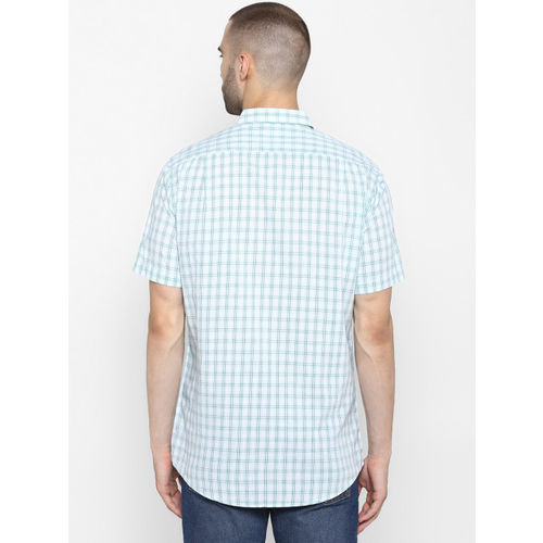 Red Tape Men Green & Off-White Regular Fit Checked Casual Shirt