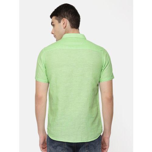Pepe Jeans Men Green Regular Fit Solid Casual Shirt