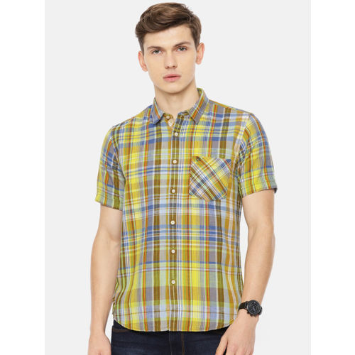 Pepe Jeans Men Multicoloured Regular Fit Checked Casual Shirt