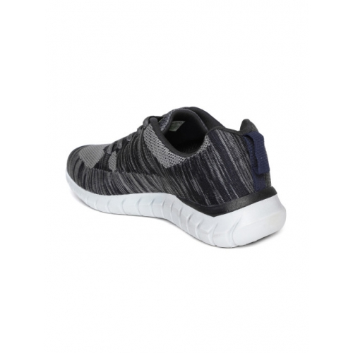 Duke Men Grey & navy Blue Running Shoes