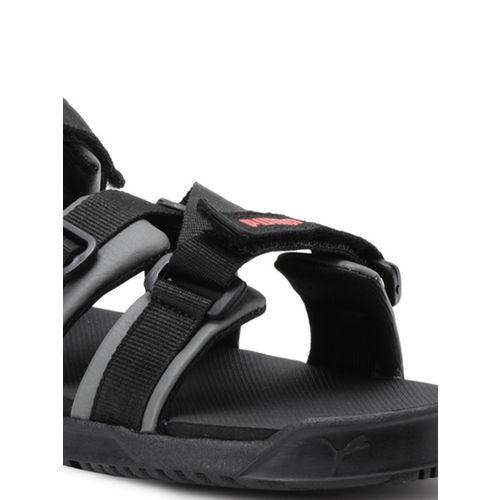 Puma Men Black & Grey Prime X IDP Sports Sandals