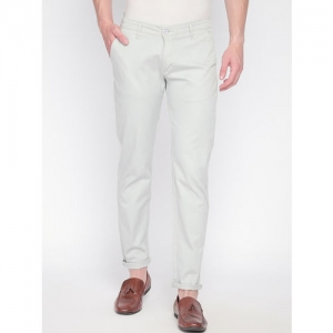 Solemio Men Grey Tapered Fit Solid Regular Trousers