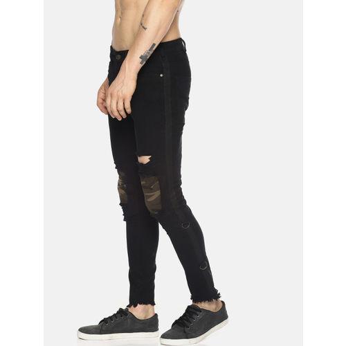 KULTPRIT Men Black Skinny Fit Solid Regular Trousers