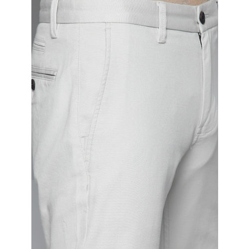 Louis Philippe Sport Men Grey Super Slim Fit Solid Chinos