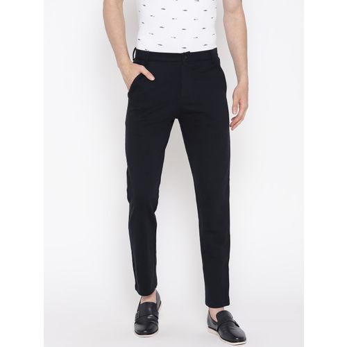 Sweet Dreams Men Navy Blue Regular Fit Solid Trousers