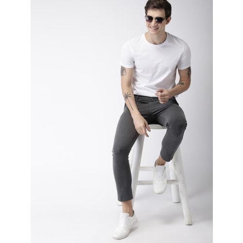 Mast & Harbour Men Grey Slim Knitted Regular Trousers