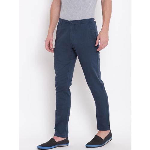 Sweet Dreams Men Navy Blue Regular Fit Solid Regular Trousers
