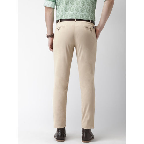 Park Avenue Men Beige Neo Fit Solid Smart Casual Chinos