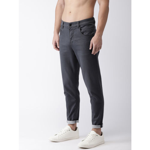 Flying Machine Men Grey MJ Mankle Tapered Fit Solid Chinos