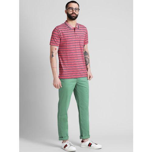 COBB Men Green Slim Fit Solid Chinos