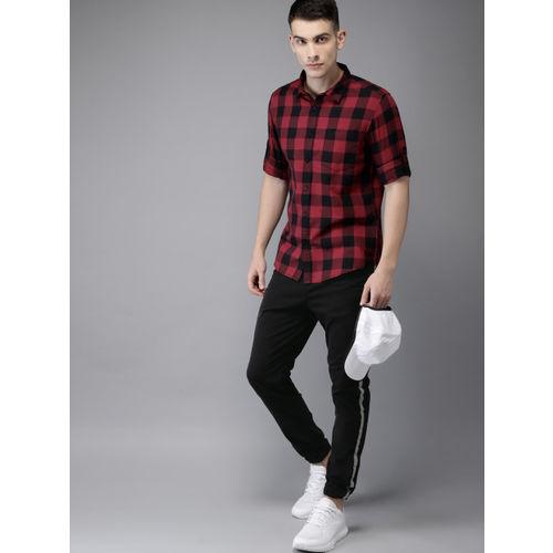 Moda Rapido Men Black Regular Fit Solid Joggers