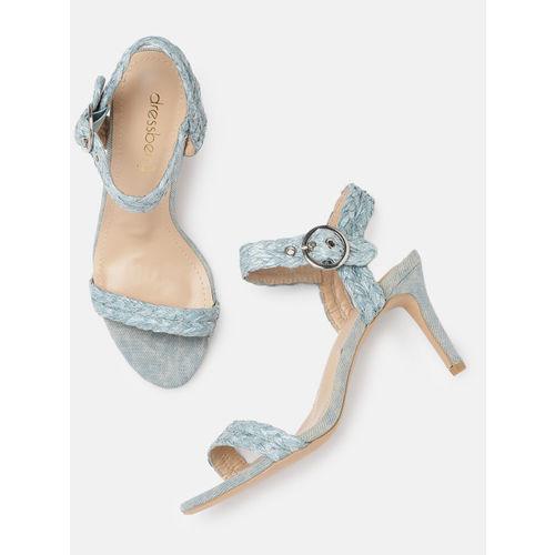 DressBerry Women Blue Solid Heels