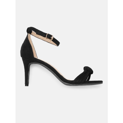 DressBerry Women Black Solid Heels