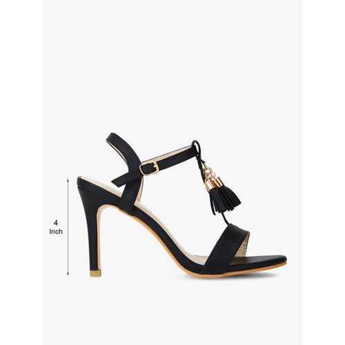 Shoe Couture Women Black Solid Heels