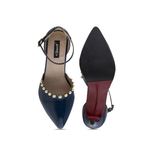 Sherrif Shoes Women Navy Blue Solid Pumps