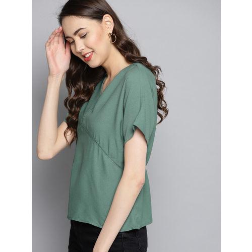 Carlton London Women Green Solid Top