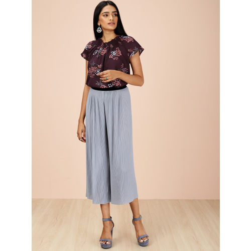 all about you from Deepika Padukone Women Burgundy Printed Top