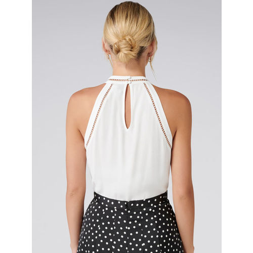 Forever New Women White Self Design A-Line Top