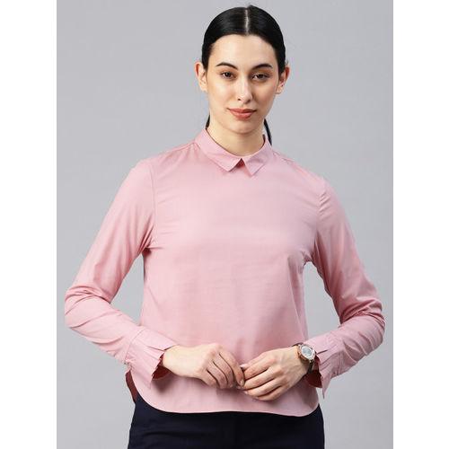 Van Heusen Woman Women Rust Solid Shirt Style Top