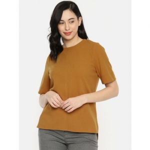 her by invictus Women Mustard Yellow Solid Top