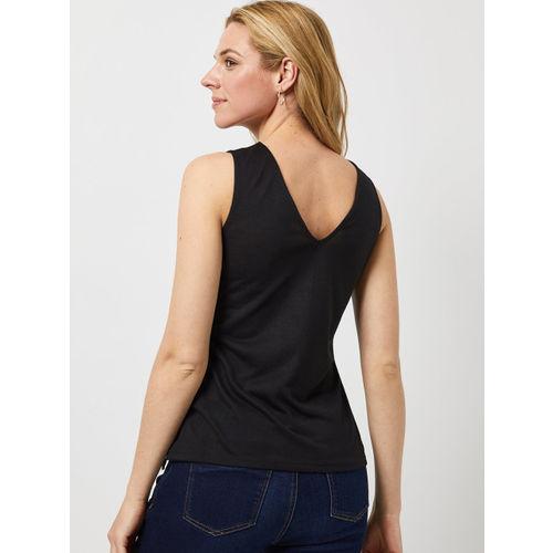DOROTHY PERKINS Women Black Lace Insert Top