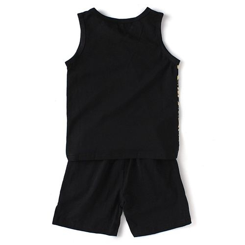 Awabox Words Printed Sleeveless Tee & Shorts Set - Black