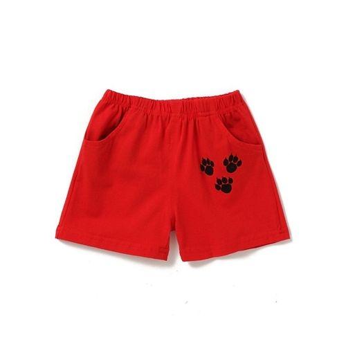 Awabox Dog Printed Sleeveless Tee & Shorts Set - Red