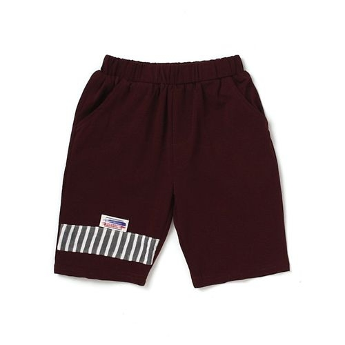 Awabox Striped Half Sleeves Tee & Shorts Set - Beige & Brown
