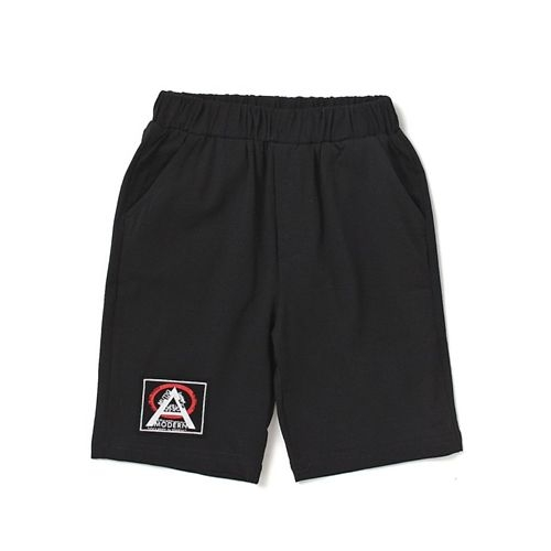 Awabox Half Sleeves Patched Tee & Shorts Set - Grey & Black