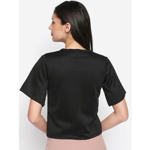 aaliya Women Black Solid Top