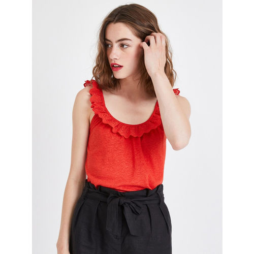 promod Women Red Solid Top