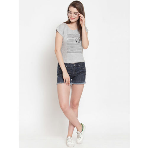 Everlush Women Grey Printed Top